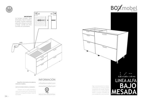mueble RTA - easy - linea ALFA