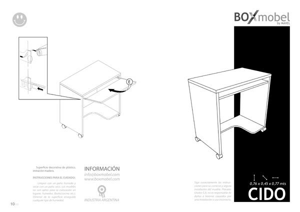 mueble RTA - easy - mesa pc CIDO