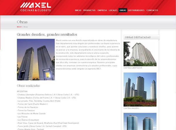 diseño web - muebles maxel