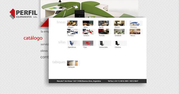 diseño web - perfil equipamientos