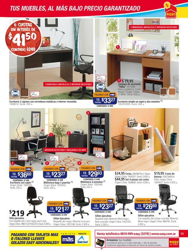 mueble RTA - easy -escritorio SIMPLE